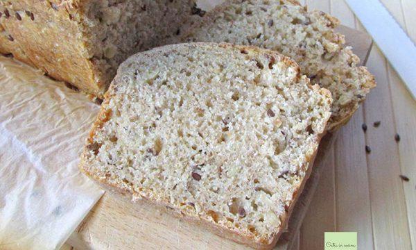 Pane al kefir con semi di lino e girasole