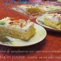 torta di compleanno con panna e marmellata