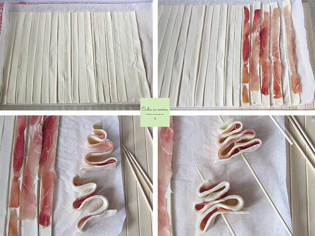 alberelli di pasta sfoglia allo speck