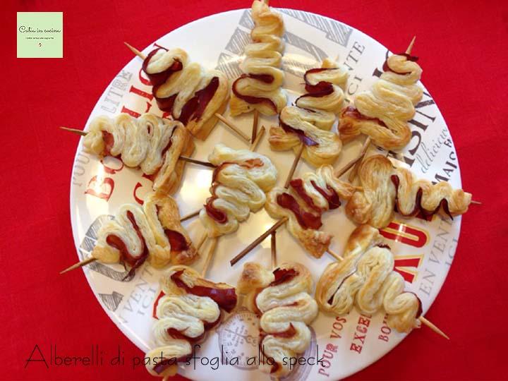 alberelli di pasta sfoglia- piatto