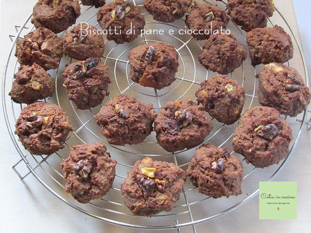 biscotti di pane e cioccolato-sfornati