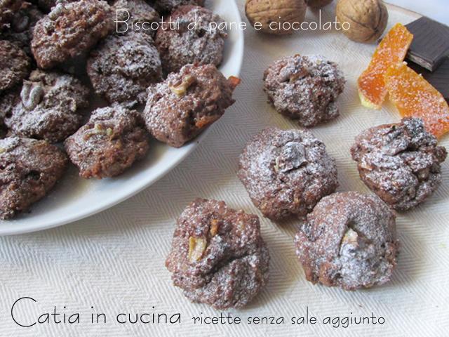 biscotti di pane e cioccolato