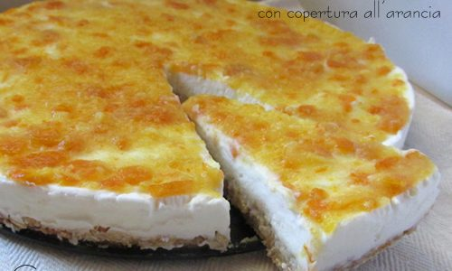 Cheesecake di panna e kefir all'arancia