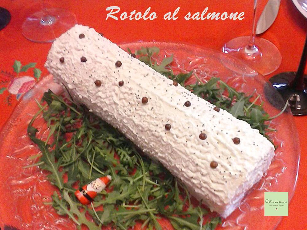 rotolo al salmone con ricotta e rucola