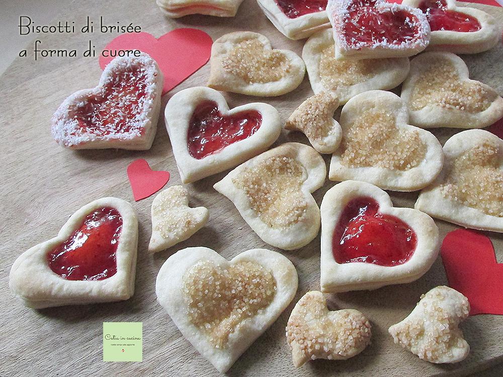 biscotti di brisee a forma di cuore