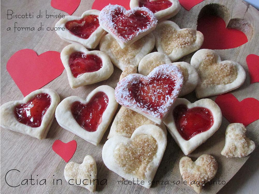 Biscotti di brisée a forma di cuore
