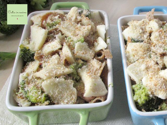 pasta di farro integrale con broccoli e taleggio-da cuocere