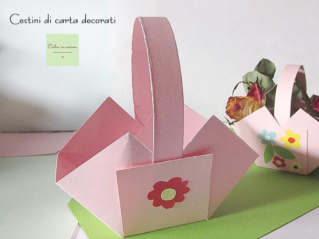 estini di carta decorati - Flavia