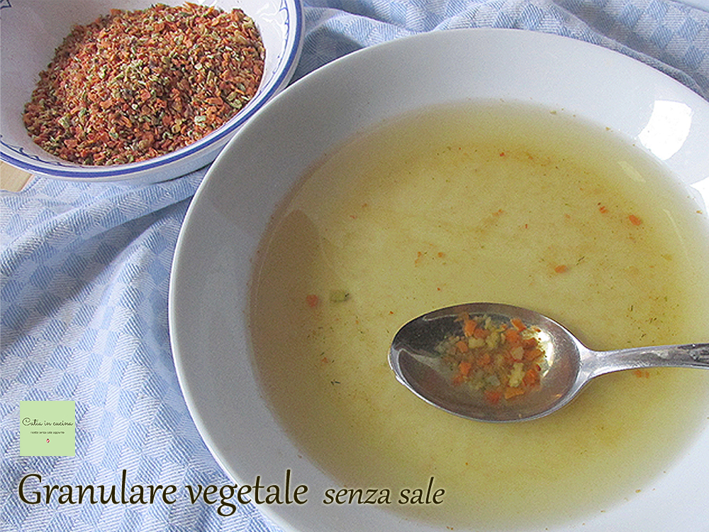 granulare vegetale senza sale - brodo