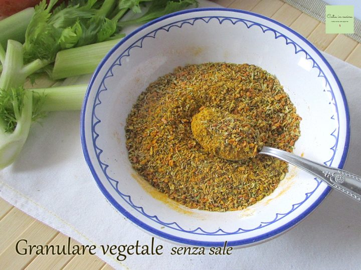 granulare vegetale senza sale