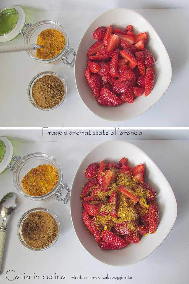fragole aromatizzate all'arancia