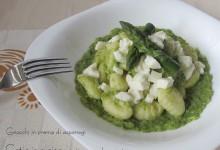 Gnocchi in crema di asparagi