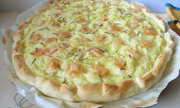 Quiche alle patate con taleggio e rosmarino