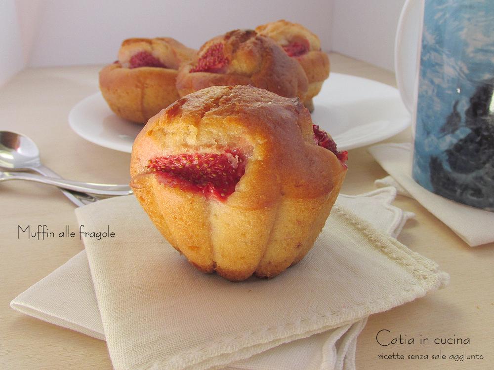 muffin alle fragole - ricetta kefir
