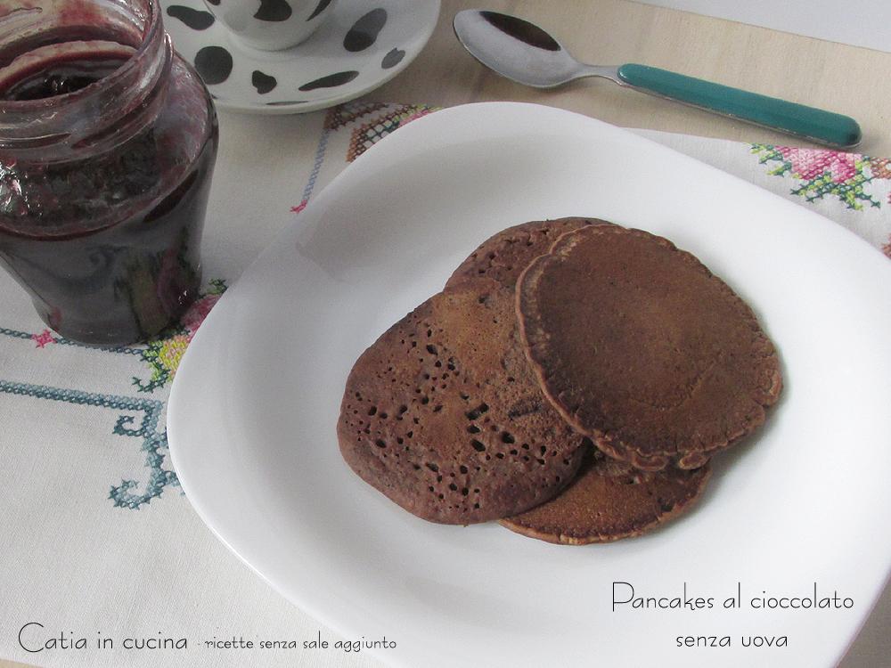 pancakes al cioccolato con latte di soia