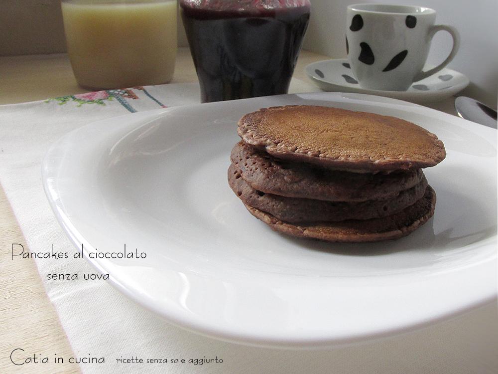 pancakes al cioccolato senza uova