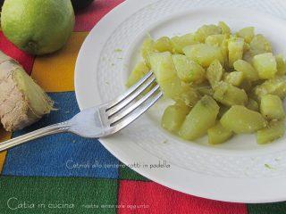 cuocere i cetrioli allo zenzero cotti in padella