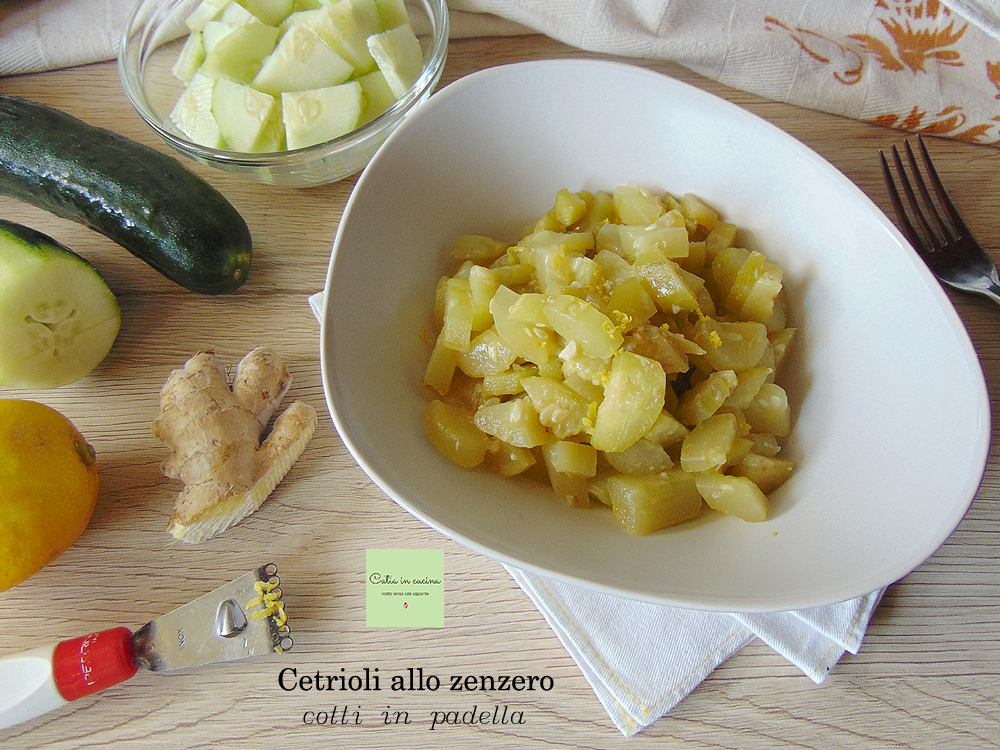 cuocere i cetrioli allo zenzero