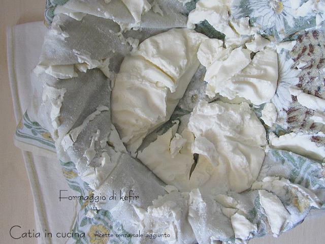 formaggio cremoso di kefir