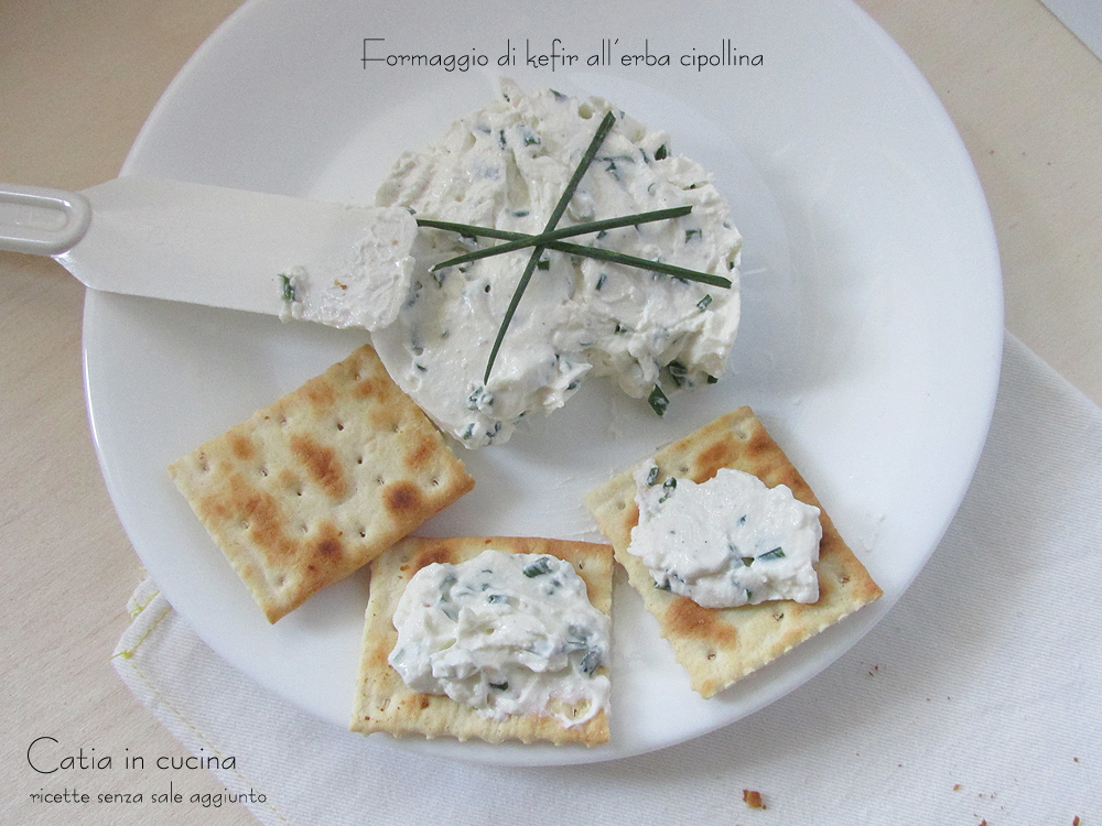 formaggio di kefir all'erba cipollina