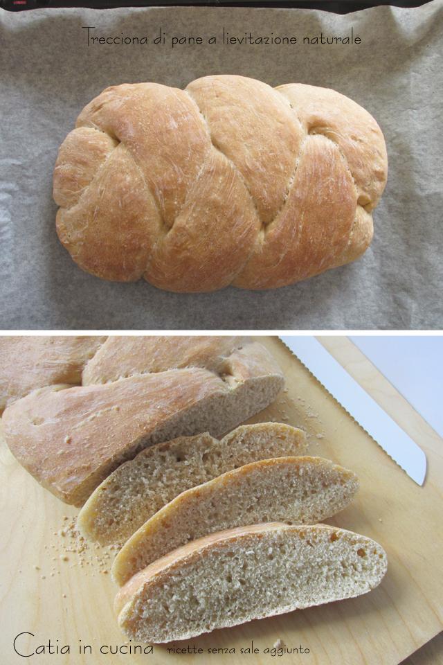 trecciona di pane a lievitazione naturale