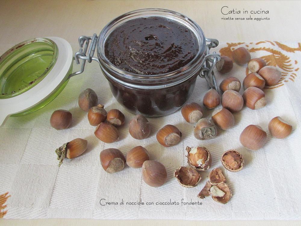 crema di nocciole con cioccolato fondente - barattolo