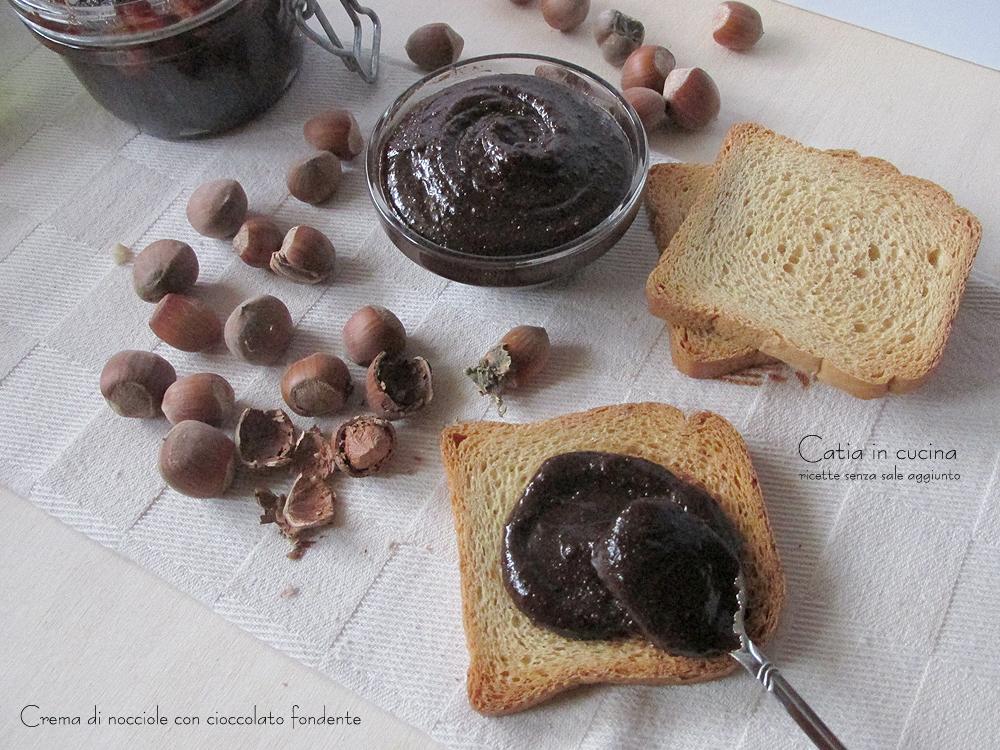 crema di nocciole con cioccolato fondente