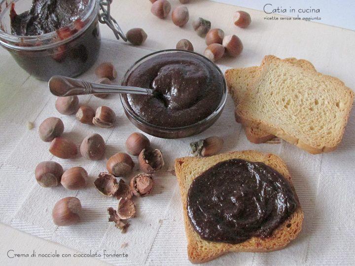 crema di nocciole e cioccolato fondente