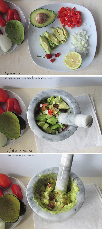 guacamole pomodoro e cipolla - steps