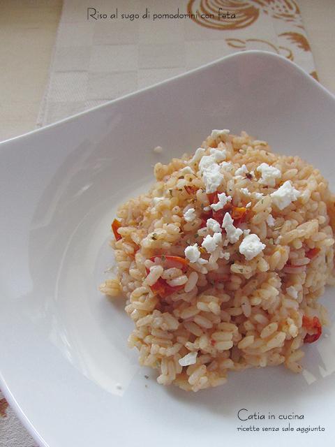 riso al sugo di pomodorini con feta