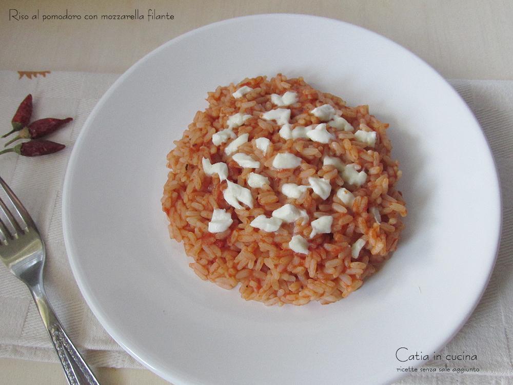 riso al pomodoro con mozzarella