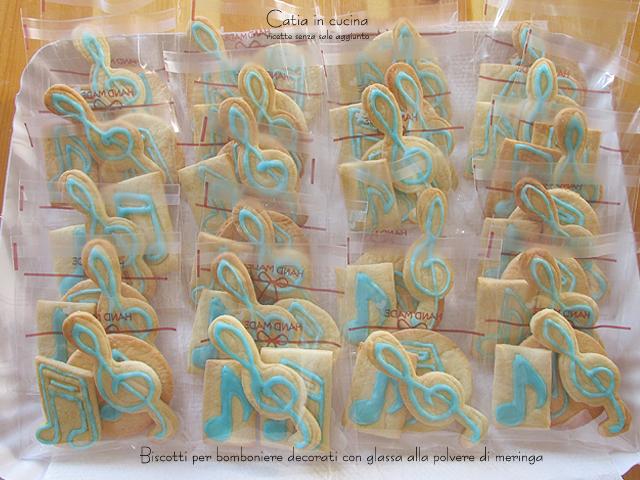 glassa con meringa in polvere biscotti bomboniere