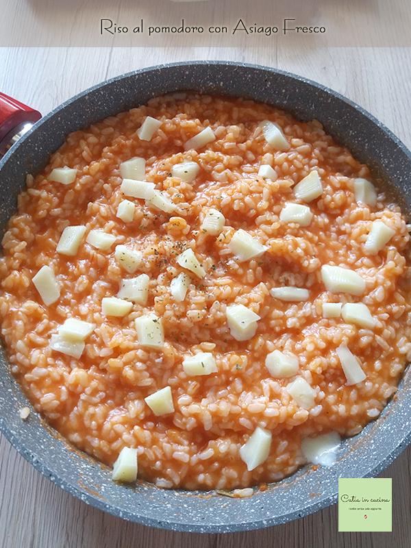 riso al pomodoro con asiago