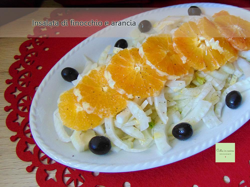 insalata di finocchio e arancia con olive