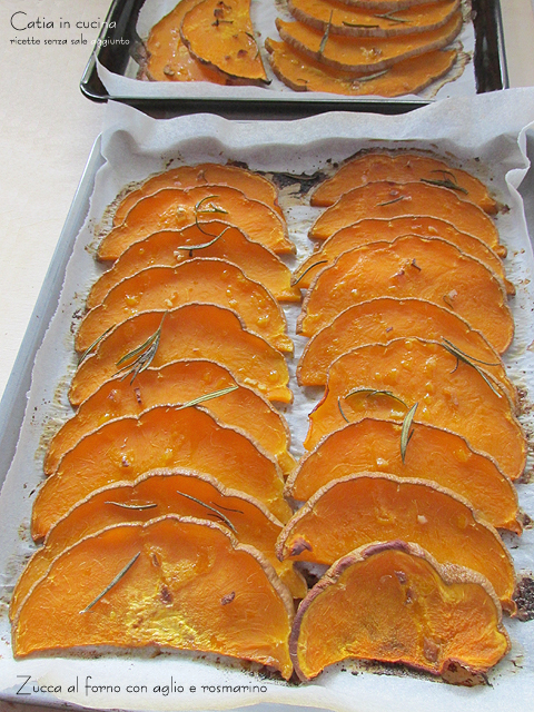 zucca al forno aglio rosmarino