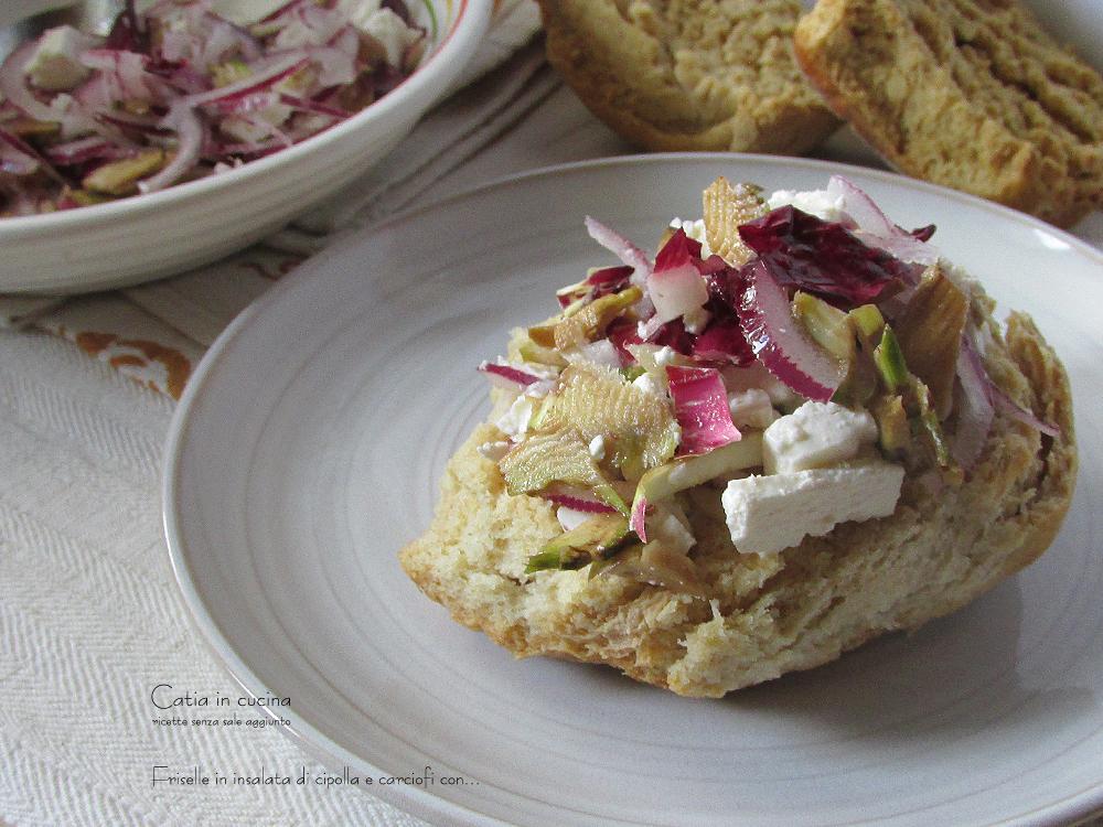friselle in insalata di cipolla