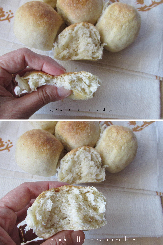 panini dolci soffici con pasta madre e kefir