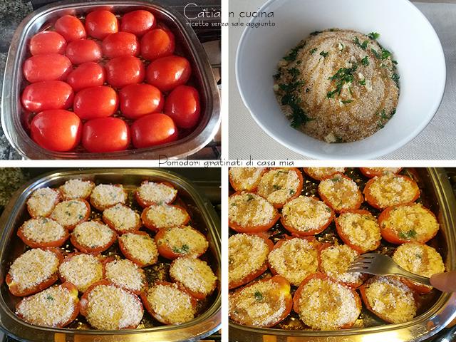 pomodori gratinati cotti nella bistecchiera