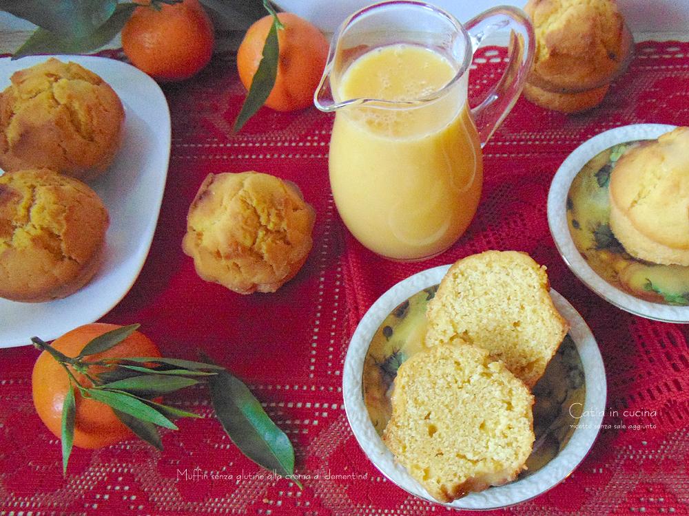muffin alla crema di clementine senza glutine