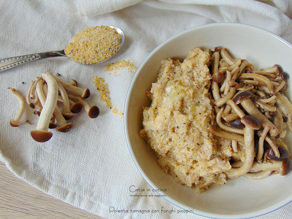 polenta taragna con funghi pioppini