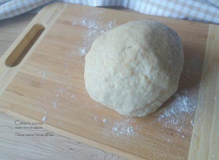 Pasta matta o brisée all'olio