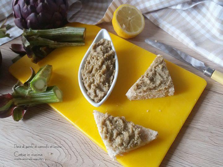 paté di gambi di carciofo al limone