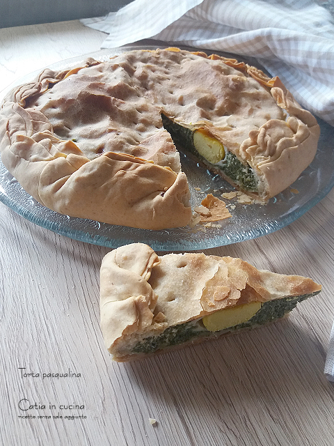 torta pasqualina fetta