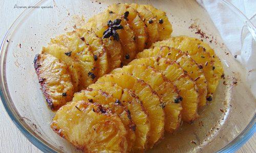 Ananas arrosto speziato, idea antipasto