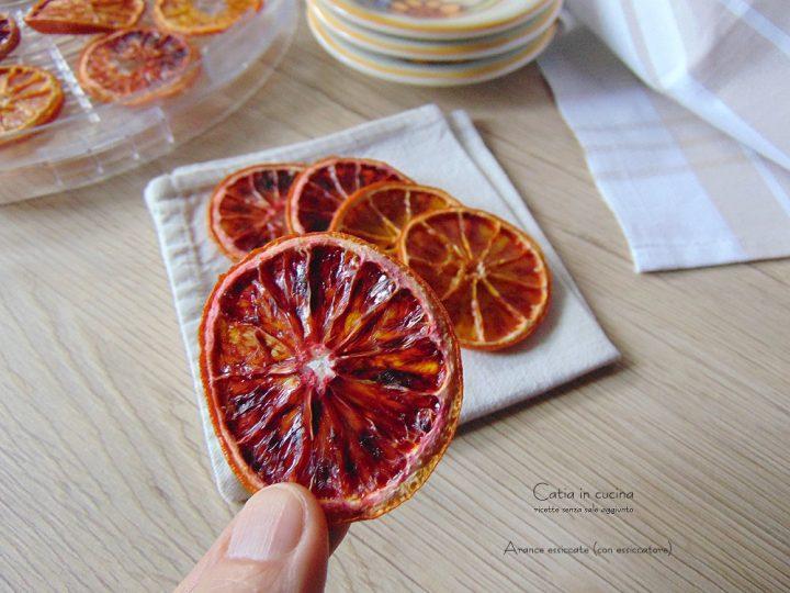 arance essiccate (con essiccatore)