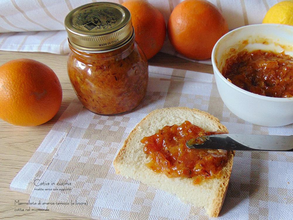 marmellata di arance nel microonde