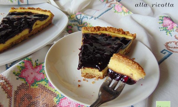 Cheesecake cotta alla ricotta senza panna