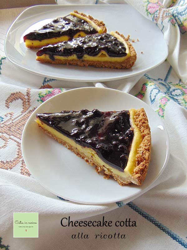 cheesecake cotta alla ricotta