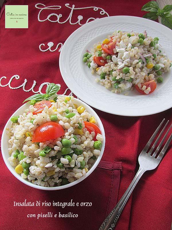 insalata di riso integrale e orzo perlato