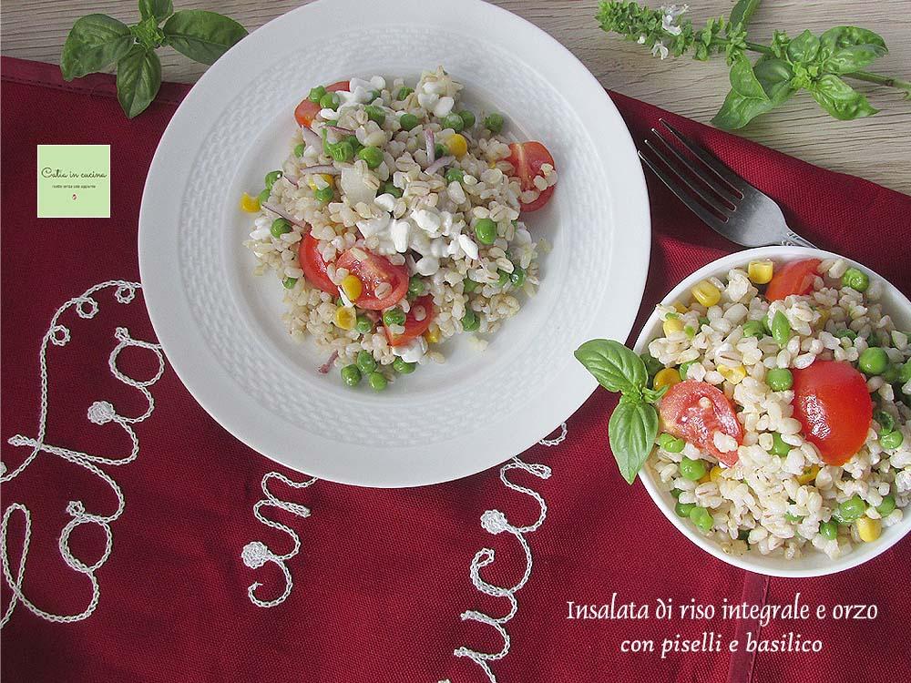 insalata di riso integrale e orzo